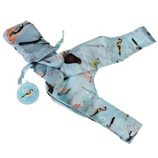 Garden Birds Blue Foldaway Shopper Bag