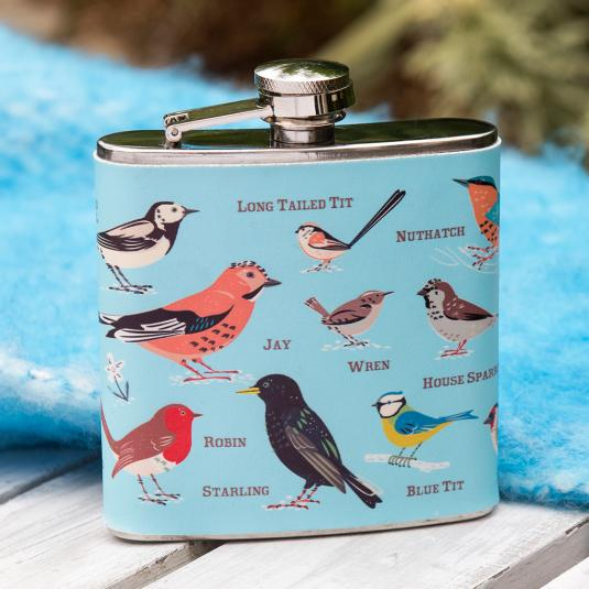Garden Birds Hip Flask