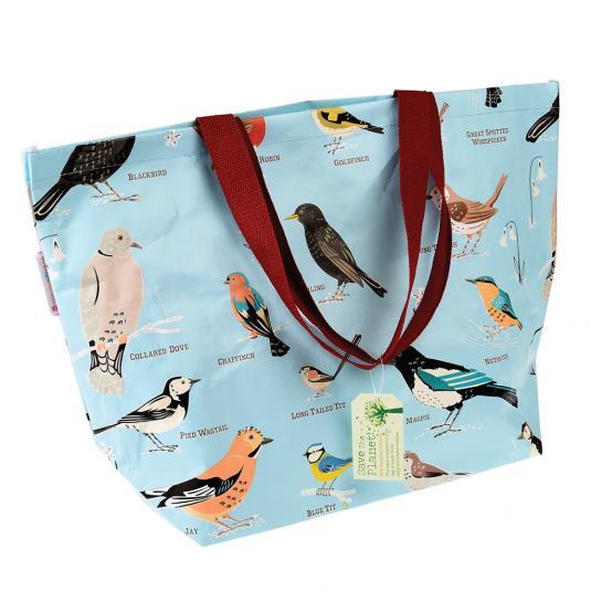 Garden Birds Design Large Eco-friendly Shopper Bag