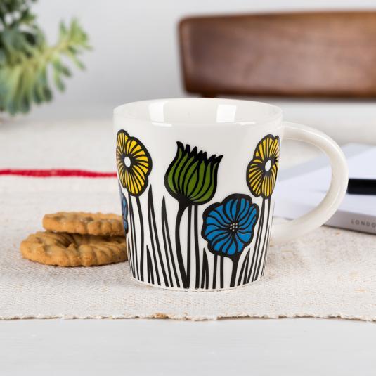 Garden Flowers Porcelain Mug