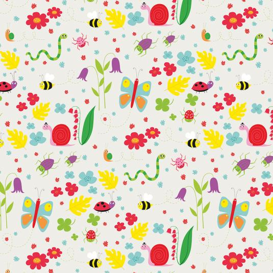Sheets Of Garden Friends Wrapping Paper