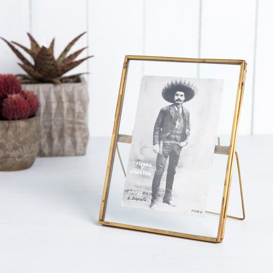 Glass Hanging gold Frame 18x13cm
