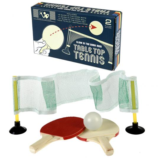 Glow In The Dark Miniature Table Tennis Set