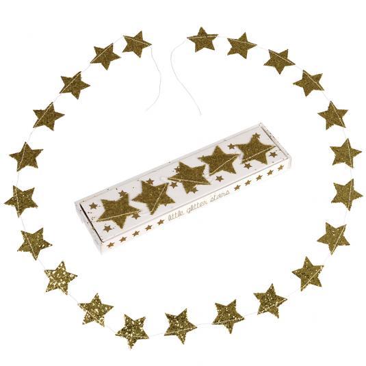 Gold Glitter Stars Garland