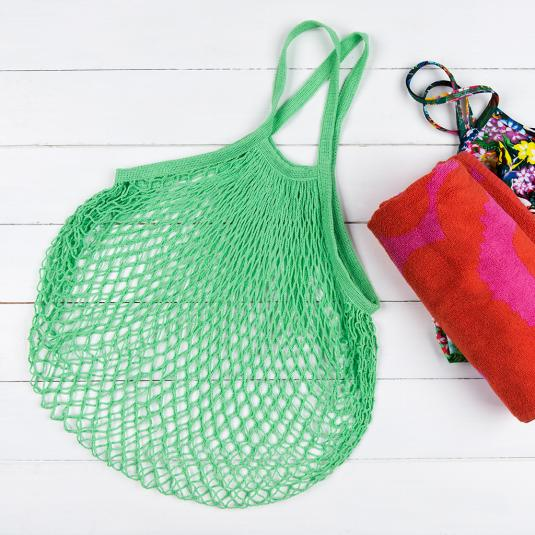 Green French Style Shopping Bag