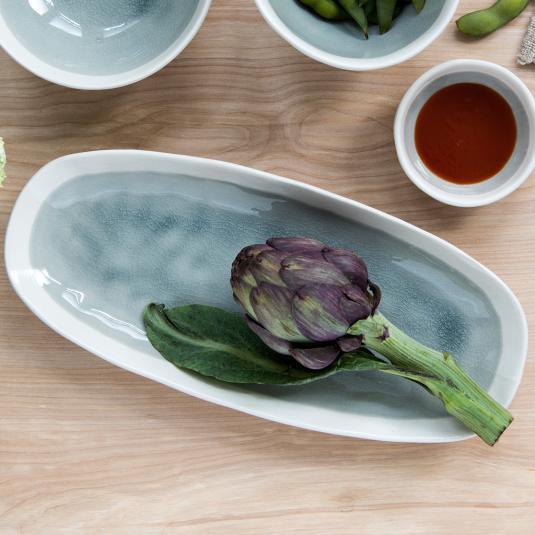 Grey serving platter