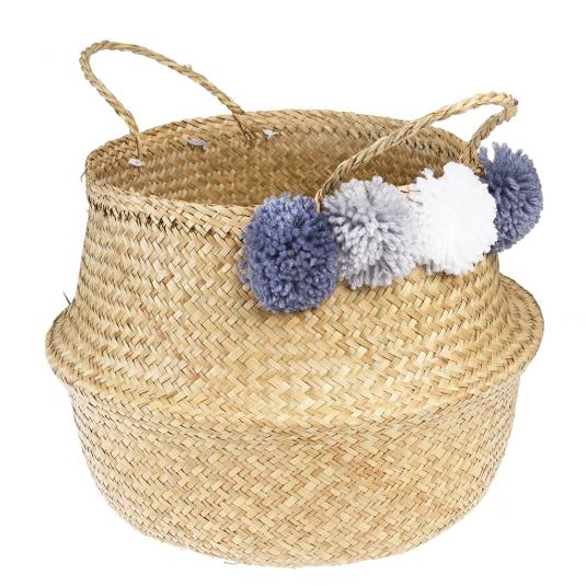 Greys Pom Pom Belly Basket