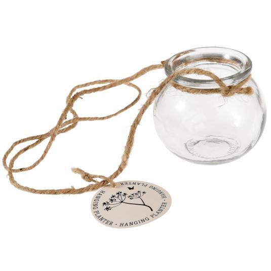 Hanging Glass Mini Posy Jar