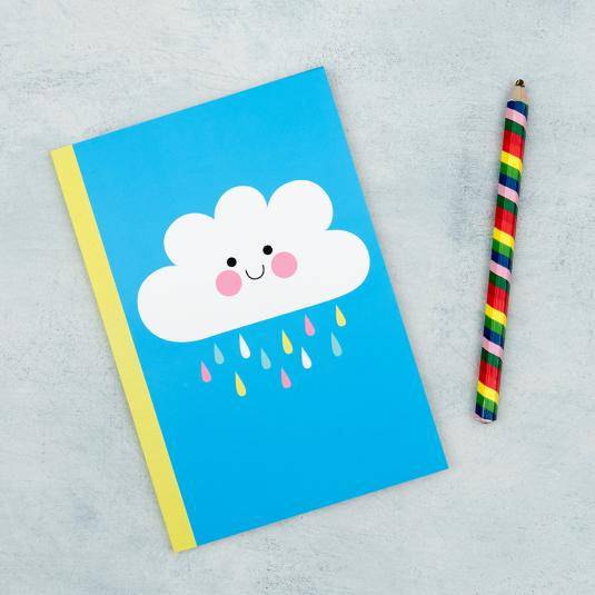 Happy Cloud lined notebook