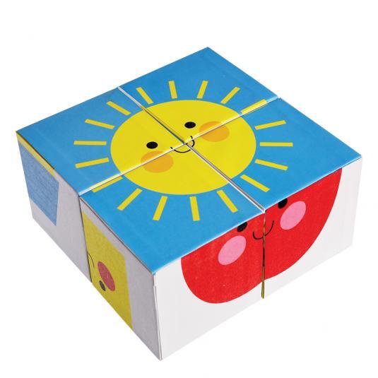 Happy Cloud Puzzle Blocks sun picture