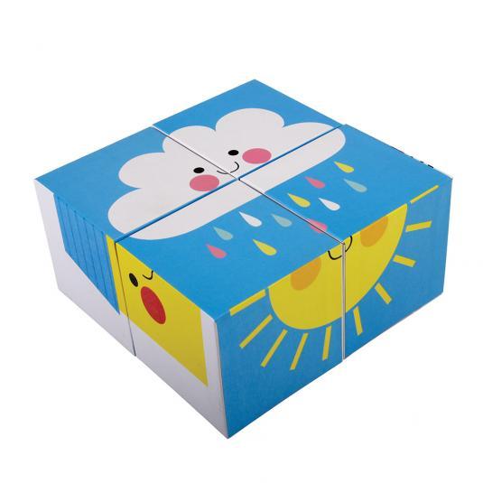 Happy Cloud Puzzle Blocks cloud picture