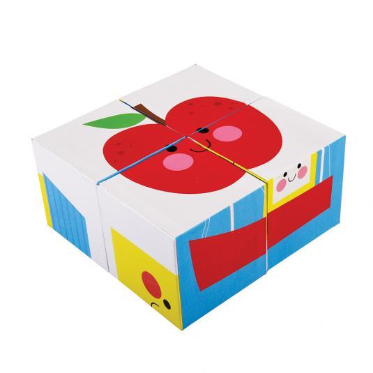 Happy Cloud Puzzle Blocks apple picture