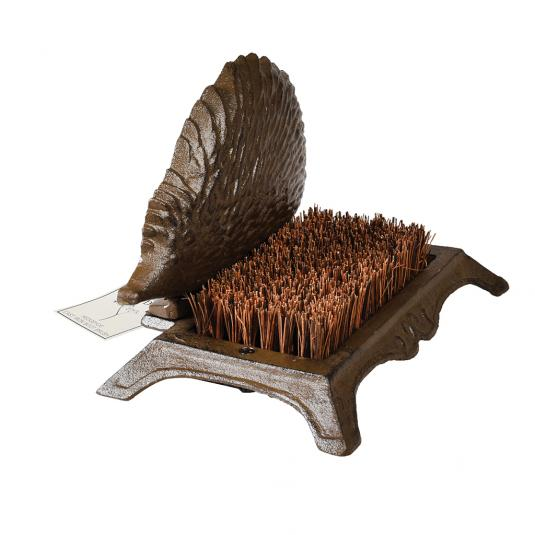 Vintage Cast Iron Hedgehog Garden Boot Brush