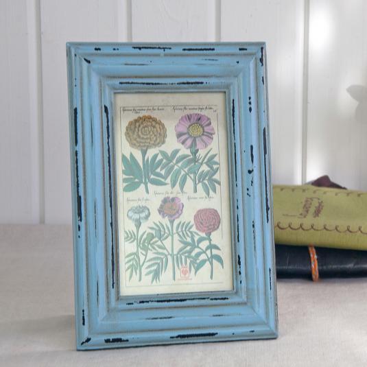 Heritage Rectangular Powder Blue Picture Frame