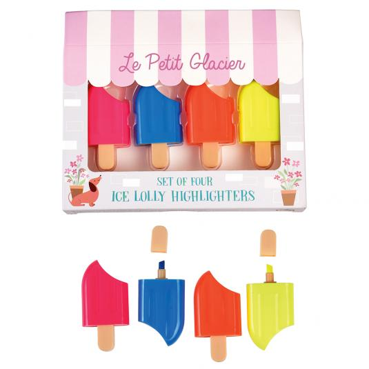 Ice Lolly Highlighter Pens (set Of 4)