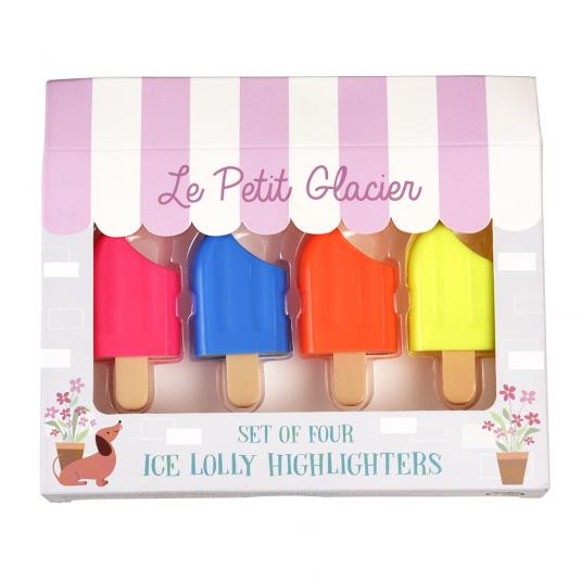 Set Of Four Ice Lolly Highlighters
