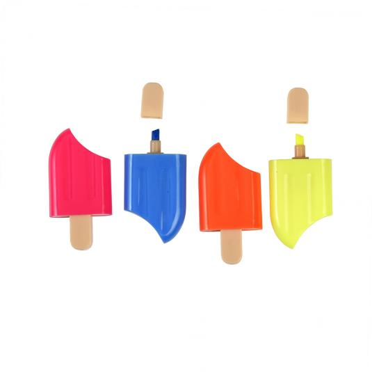 Colourful lolly shaped highlighters