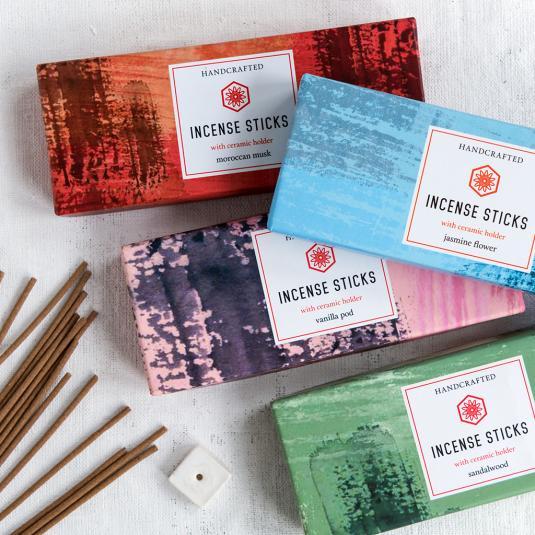 Incense Sticks With Ceramic Holder