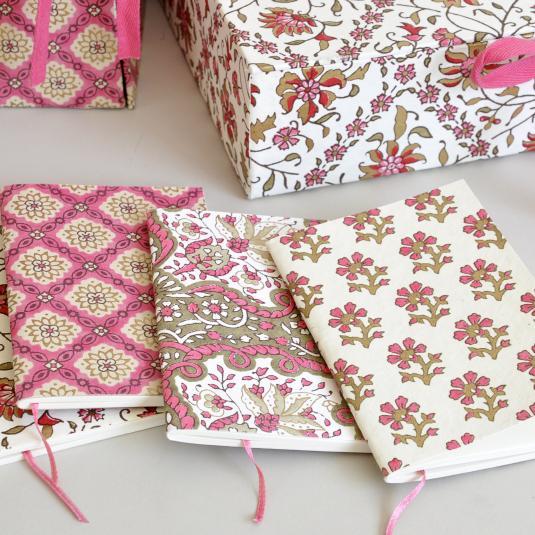 Pink Paisley design Notebook