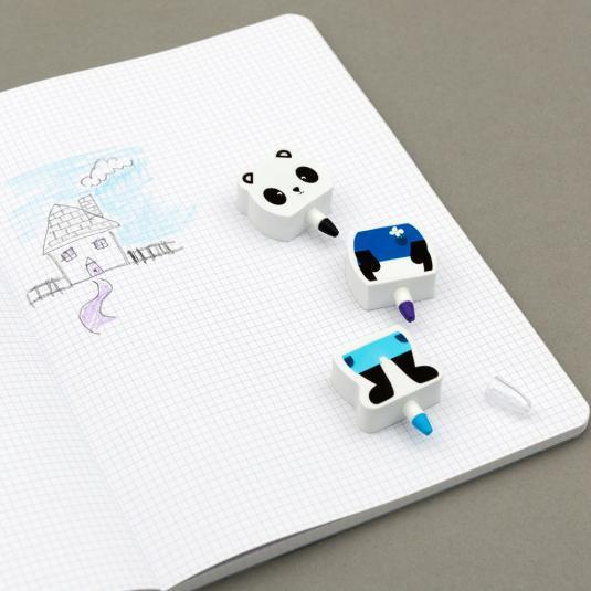 Panda Crayon & Eraser