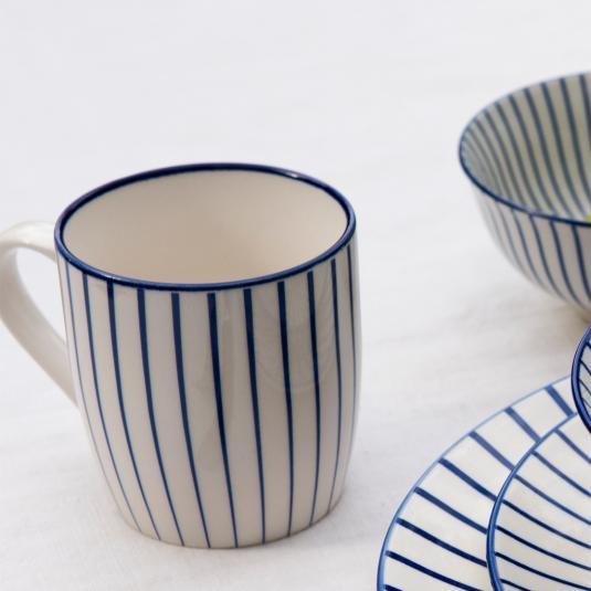 Japanese Mug Cobalt Sunburst