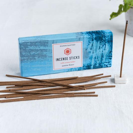 Jasmine Flower Incense Sticks And Holder (50 Sticks)