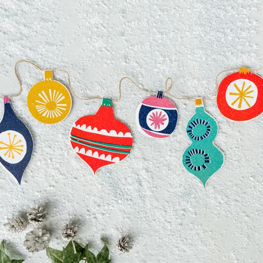 Vintage Bauble Inspired Bunting