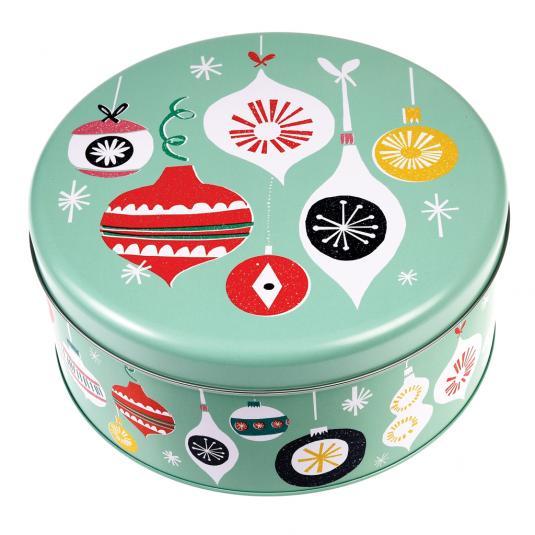 vintage style Christmas mince pie tin