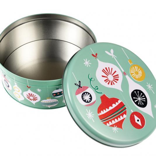 vintage style Christmas cake tin