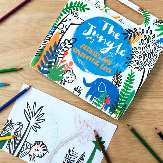 Jungle Animals Kids Colouring And Activity Book