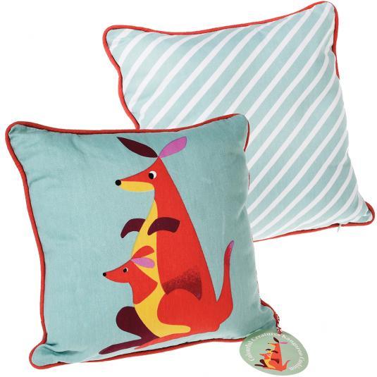 Kangaroo Print Blue Cushion