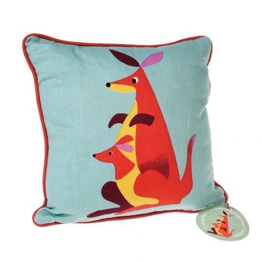 Coulourful Creature Design Kangaroo Cushion