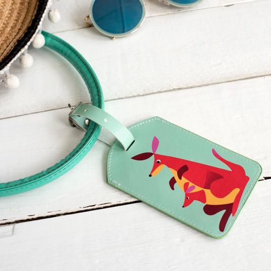 Colourful Creature Kangaroo  Luggage Tag