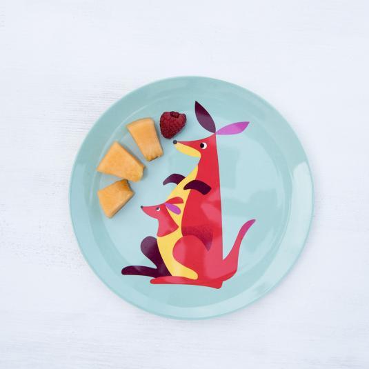 Kangaroo Melamine Plate