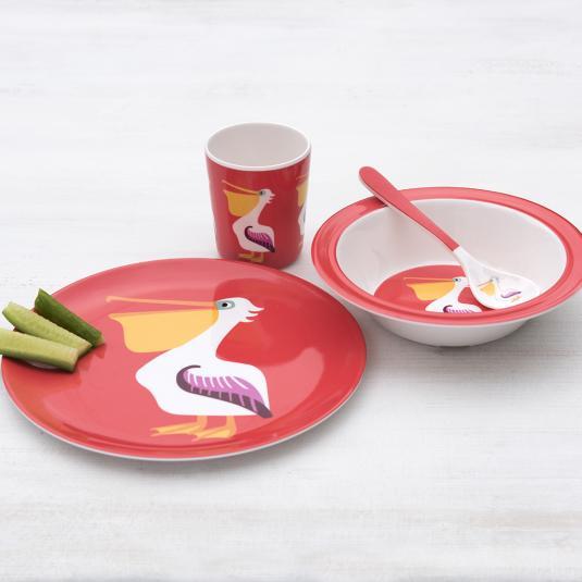 Children's Pelican Melamine Set