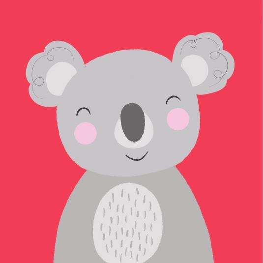 Koala Animal Friend kids greeting Card