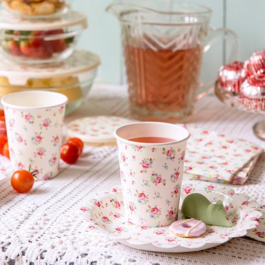 La Petite Rose Tea Party Plates