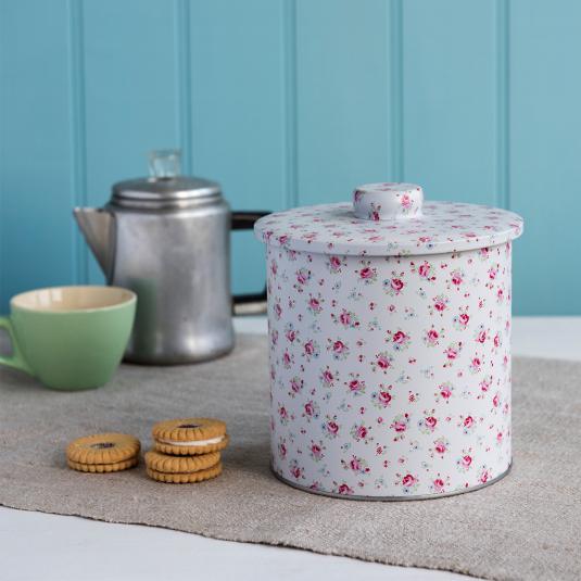 La Petite Rose Design Biscuit Tin