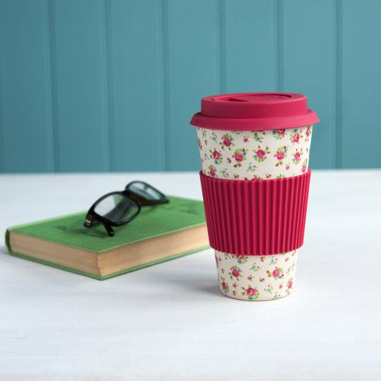 La Petite Rose Bamboo Travel Mug