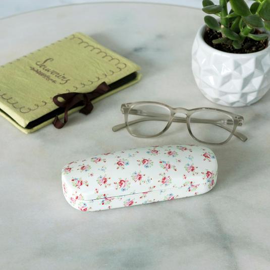 La Petite Rose Hardshell Glasses Case & Cleaning Cloth