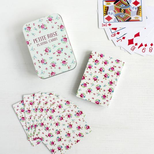 La Petite Rose Playing Cards In A Floral Tin