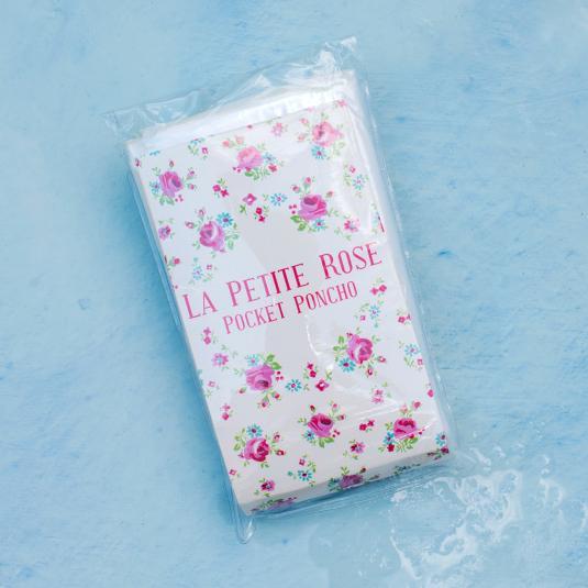 La Petite Rose Disposable Rain Poncho