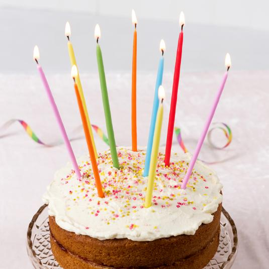 Astounding Large Confetti Candles Set Of 12 Rex London Dotcom Tshop Birthday Cards Printable Opercafe Filternl