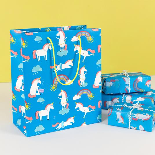 Unicorn Bag blue New Gift