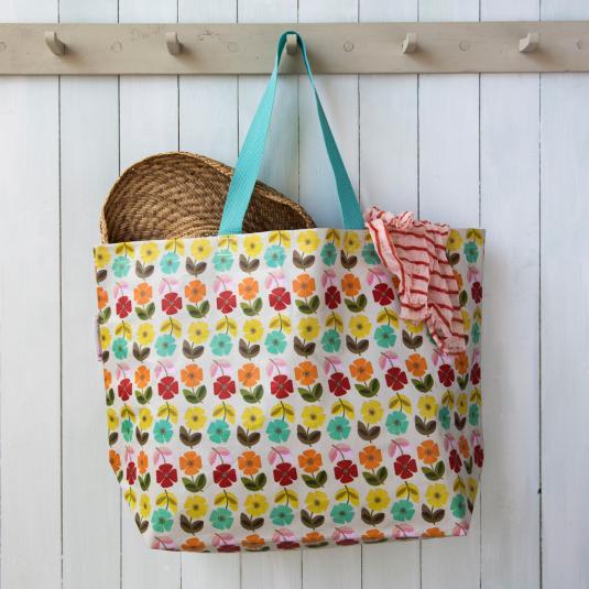 Large shopper bag - Mid Century Poppy