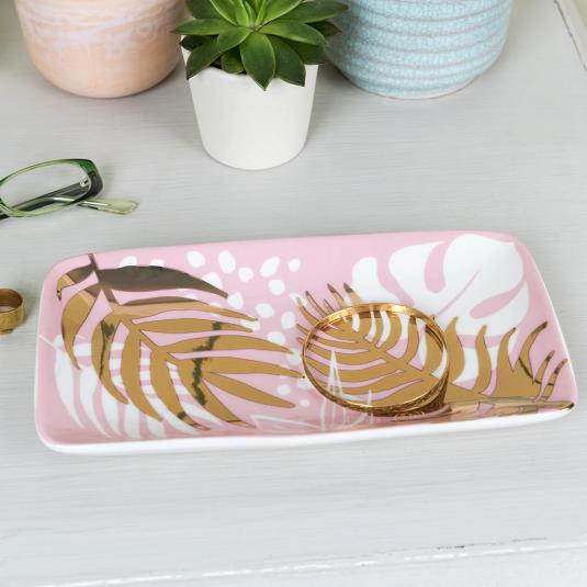 Tropical Palm Large Jewellery Plate