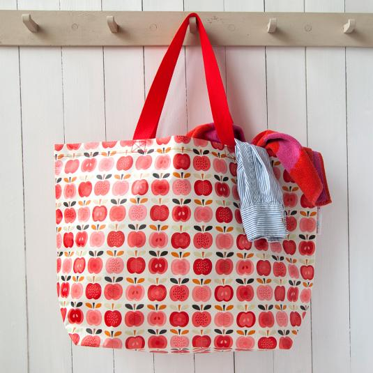 Large Vintage Apple Shopping Bag