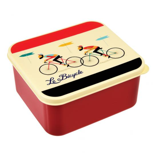 Le Bicycle sandwich size Lunch Box