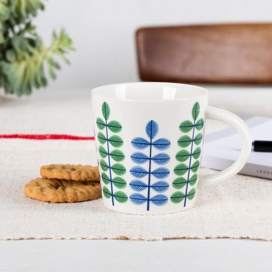 Abstract Leaf Porcelain Mug