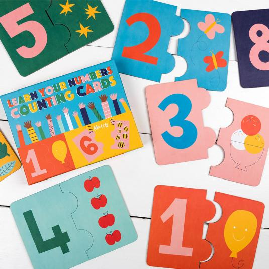 box of counting cards for children set of one to ten